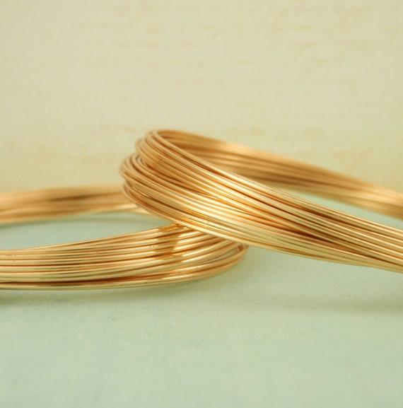 Premium Gold Colored Wire - Half Hard - Non Tarnish - 100% Guarantee - 18, 20, 22, 24, 26 gauge