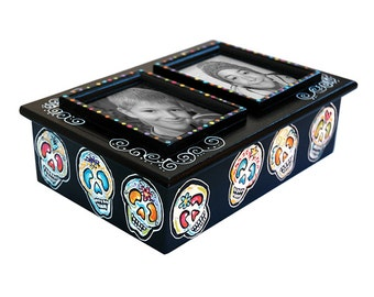 PHOTO FRAME BOX - Day of the Dead Sugar Skulls 6x9x4