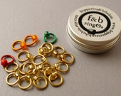 ringOs Traffic Light Lace - Gold - Snag-Free Ring Stitch Markers for Knitting