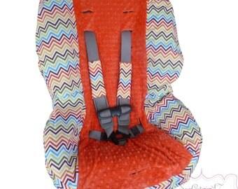 Toddler Car Seat Cover Bermuda Chevron
