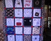 Custom Order    T Shirt Quilt for  Baseball Fan  50 .00 deposit only       by  Fabricartist21