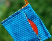 Condom Cozy - Blue and Aqua Polka Dots Keychain Pouch