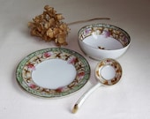 SALE- Vintage Imperial Nippon 3 Piece Condiment Dip Set