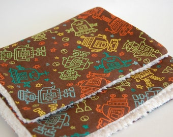 Burp Cloth (set of 2) - ROBOTS - Bleep Bleep