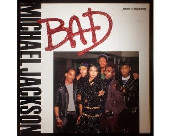 Glittered Michael Jackson Bad single Album