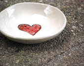 Red heart ring bowl