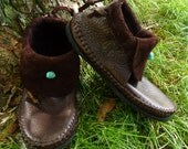 Clean Cut Inca Moccasin Hand Stitched Soft Bullhide Leather Upper With A Durable VIBRAM Sole Woodland Earthy Rustic Men's Women's Moccasins