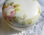 Porcelain Nippon Handpainted Container Covered Powder Jar