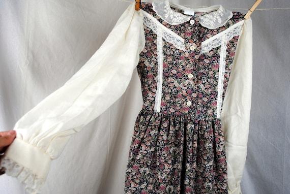 Vintage Girl's Gunne Sax Style 70s Prairie Dress