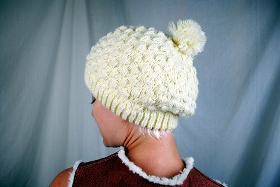 Vintage 1980s Pom Pom Winter Hat