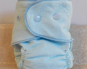 Fitted Medium Cloth Diaper- 10 to 20 lbs- Basic Blue- Set of 5- Bulk Discount- Made to Order