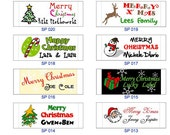 50 pieces of Christmas personalized clothing labels - great for your holidays gifts
