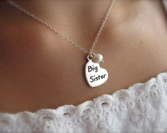 Big Sister Necklace // Big Sister Gift // Sister Jewelry // Sister Necklace // Big Sister Jewelry // New Big Sister