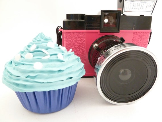 BABY BOY photo props cupcake - fake cupcake for photography session shoot  props boy first birthday cupcake blue icing unique gifts