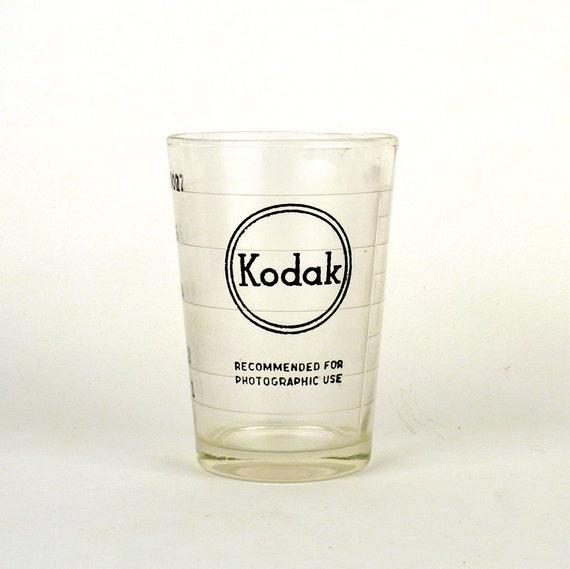 Vintage Kodak Glass Industrial Beaker Used in Developing Photos Geekery Men Women Collectible 8 fluid OZ Under 25