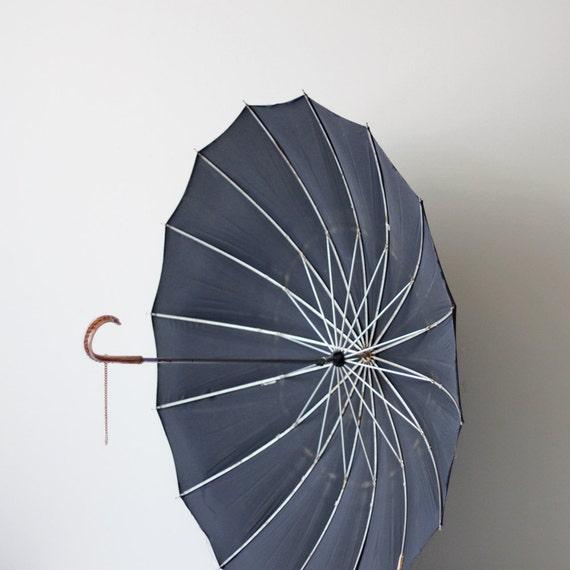 vintage classic black fabric umbrella