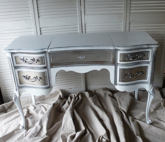 RESERVED Custom Order Paris Apartment Vanity / Ladies Desk.PAINT to ORDER