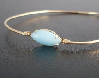 Turquoise Bracelet, Anja - Turquoise and Gold Bracelet, Blue Turquoise Bangle Bracelet, Gold and Turquoise Jewelry, Turquoise Bridal Jewelry