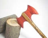Wooden Hair Stick - Petite Hair Axe - Durin - Bocote and Redheart - No 88