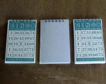 vintage green bingo card notebook