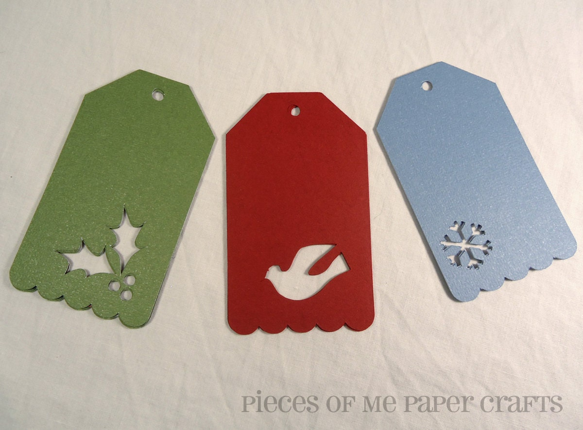 Christmas gift tags 12 blank Christmas by PiecesOfMePaperCraft