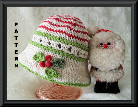 Christmas Baby Hat Baby Hat Pattern Knitted Hat Pattern