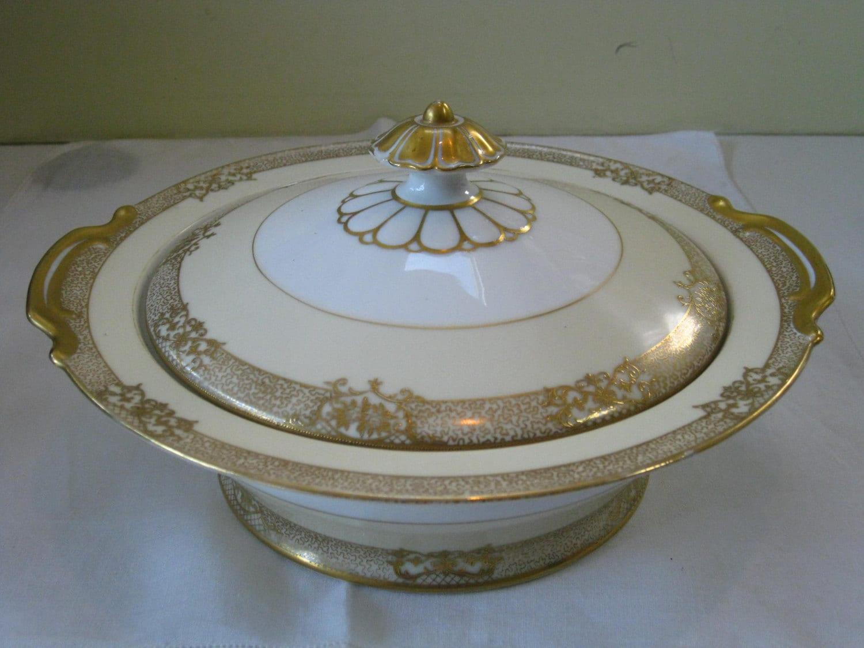 Vintage Noritake Covered Vegetable Bowl Goldinthia 1933