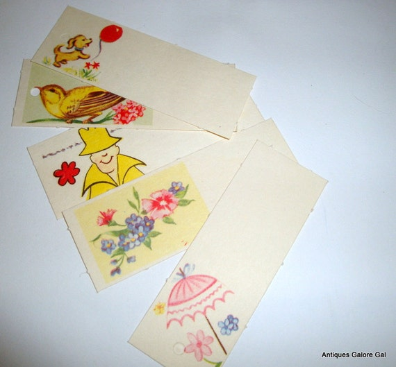 Vintage Gift Tags, All Occasion, Retro Style