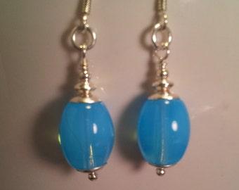 Sky Blue Opal Earrings II