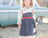 Strawberry Fields retro, vintage-inspired peasant blouse for little girls