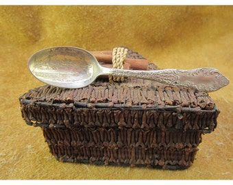 U. S. Battleship Maine Souvenir Spoon - Vintage Silver Commemorative Demitasse Collector Spoon