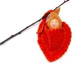 Waldorf doll, Autumn leaf baby waldorf toy, fairy doll, waldorf toy, leaf baby
