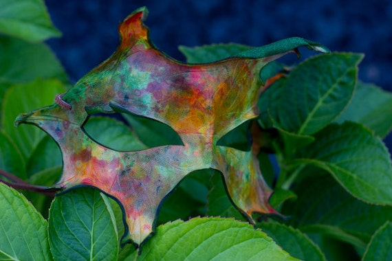 Autumn Oak Leaf Handmade Leather Mask