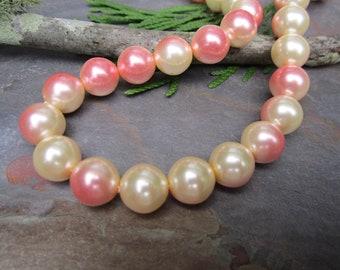 10mm Cotton Candy Czech Glass Pearls
