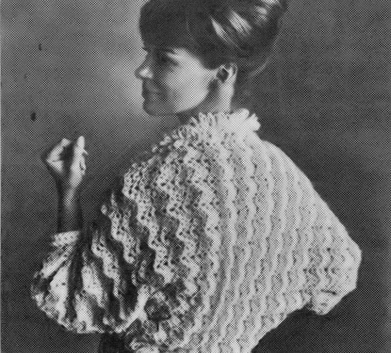Ripple Crochet Bed Jacket Vintage Crochet Pattern
