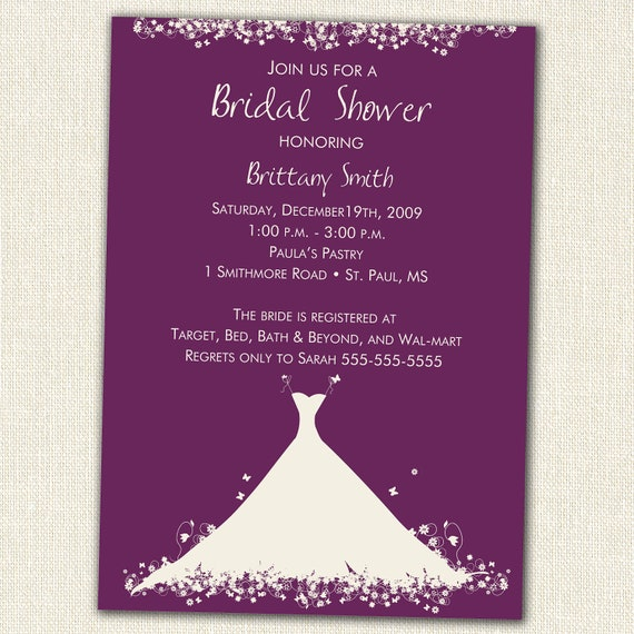 bridal shower invitation by simplycreativemel on etsy With etsy wedding shower invitations