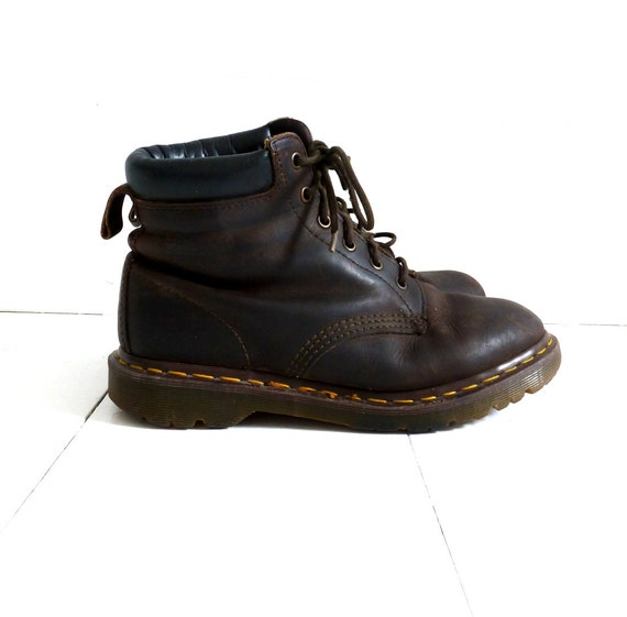 vintage 90s brown doc martens 6 leather by