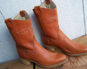 Western Boots Leather Wrangler Womens Size 5 M Cowboy Cowgirl VINTAGE by Plantdreaming