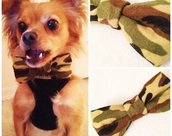 Camo Puppy Dog Bow-Tie