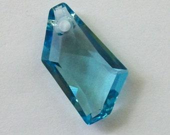 1 Swarovski element crystal pendant DE-ART 6670 Crystal Pendant AQUAMARINE --- Available in 18mm and 24mm