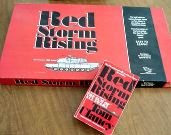 Tom Clancy Board Game Red Storm Rising With Free  Book,Vintage Game, Military Game, Board Game, Tom Clancy Game, Games