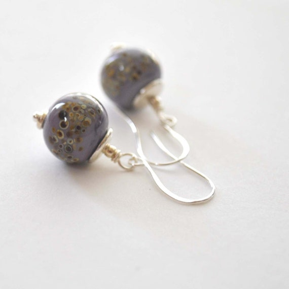 Soft Purple Lampwork Earrings