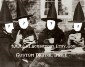 Custom Halloween Digital Image or Portrait-Your Face on a Vintage Image From My Shop and you Choose the Size You Want.