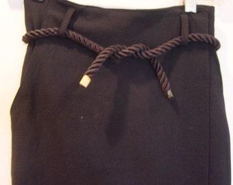 vintage long high waist black skirt 2 petite xs