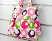 POLKA DOTS  Multicolored Green Pink Purple Bow Handbag Schoulderbag
