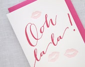 Ooh La La Letterpress Valentines Day Card