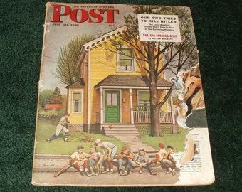 Vintage Saturday Evening Post Magazine July 20 1946 - Cover in Poor Condition  Vintage Car Ads - Scrapbooking Retro  Paper Ephemera