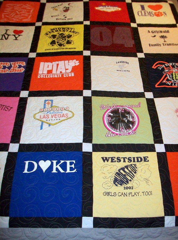 "Reserved for Alison Brock - Custom T-Shirt Quilts Twin Size 64"" x 87"" (20 T-Shirts) 3rd of 3"
