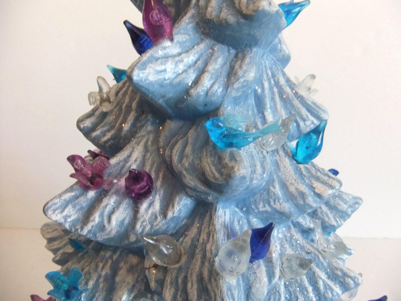 Vintage Ceramic Christmas Tree Blue