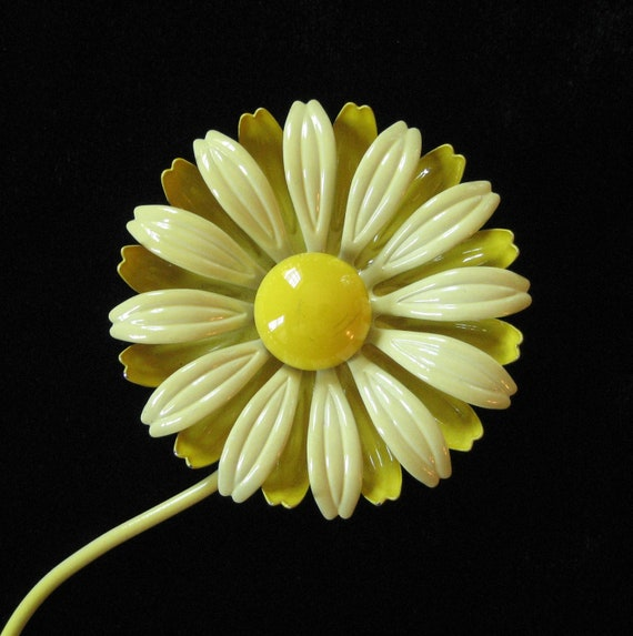 Yellow Double Layer Flower Power Brooch